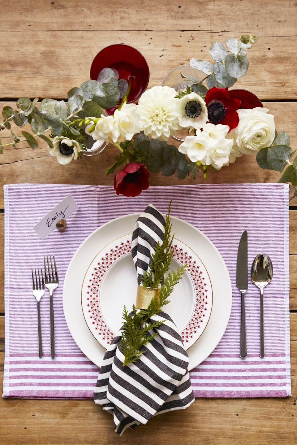"""<p>Short on linens? Cute tea towels can sub in for placemats and napkins, and they'll get plenty of use after the big day. </p><p><a class=""""link rapid-noclick-resp"""" href=""""https://www.amazon.com/Native-Fab-Cotton-Kitchen-Towels/dp/B07VG8QRJ1/ref=sr_1_19_sspa?tag=syn-yahoo-20&ascsubtag=%5Bartid%7C10055.g.2196%5Bsrc%7Cyahoo-us"""" rel=""""nofollow noopener"""" target=""""_blank"""" data-ylk=""""slk:SHOP TEA TOWELS"""">SHOP TEA TOWELS</a></p>"""