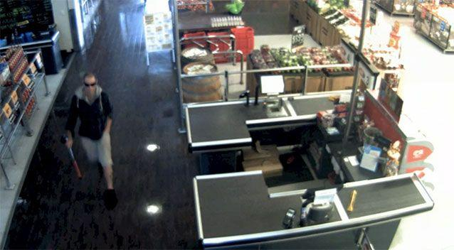 Police are searching for the thief described as about 30 years old, 183cm tall, with a slim build, very short cropped blonde hair and a Southern Cross tattoo on his left calf. Picture: WA Police