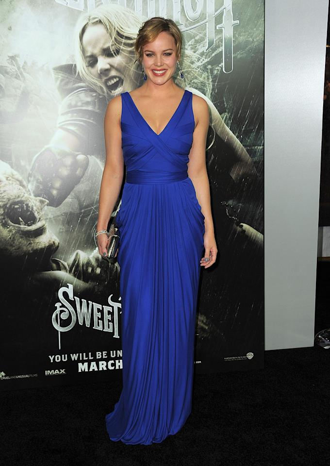 """<a href=""""http://movies.yahoo.com/movie/contributor/1804856742"""">Abbie Cornish</a> at the Los Angeles premiere of <a href=""""http://movies.yahoo.com/movie/1810133258/info"""">Sucker Punch</a> on March 23, 2011."""