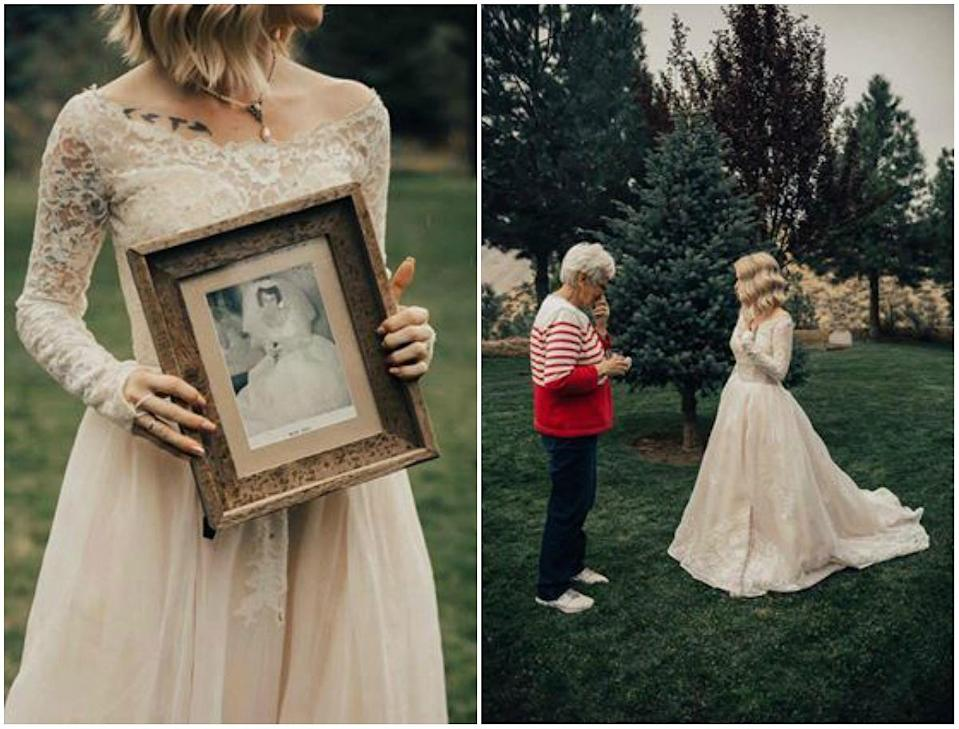 """As the bride walked outside to see her grandma, it began to rain. We all viewed the rain as teardrops from heaven looking down. Teardrops from her grandfather."" (Photo: Supplied/Kortney Peterson)"