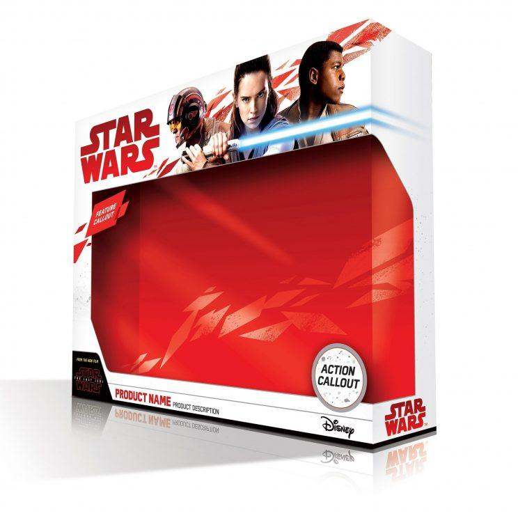 New 'The Last Jedi' toy boxes - Credit: Disney