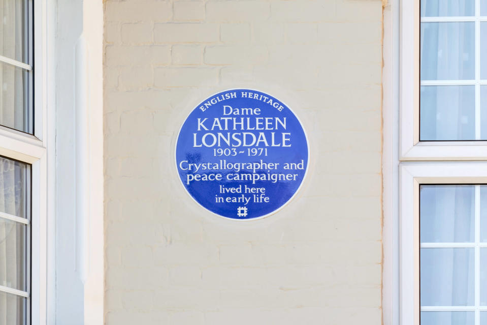 Kathleen Lonsdale's plaque will be unveiled 50 years after he death. English Heritage