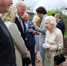 <p>Queen Elizabeth greets President Joe Biden and First Lady Dr. Jill Biden, along with the other leaders of the G-7 Summit, at a reception on June 11 at the Eden Project in South West England. </p> <p>For the first time in nearly two years, G7 leaders from Canada, France, Germany, Italy, Japan, the UK and the United States met over the weekend for three-day talks in Carbis Bay, Cornwall.</p>
