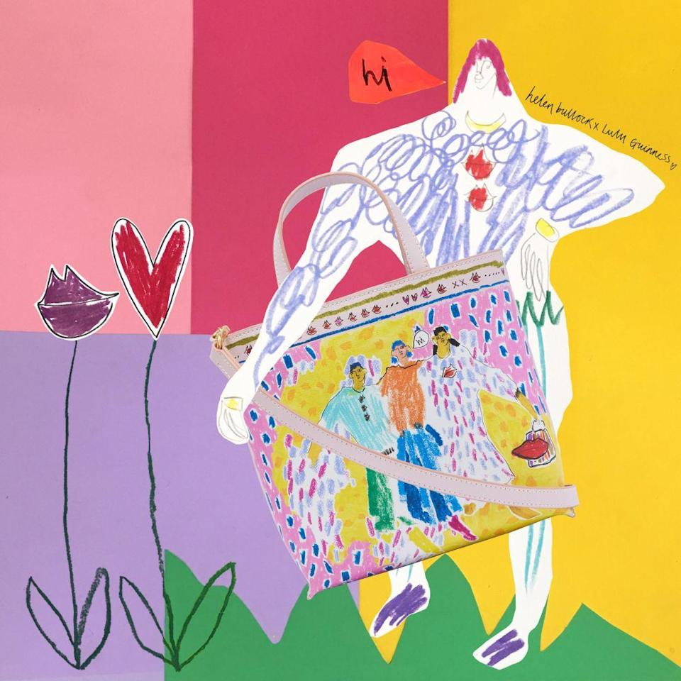 <p>Lulu Guinness has launched a three-piece capsule collection in collaboration with the London-based fashion illustrator Helen Bullock. Renowned for her bold and vibrant prints, the collaboration reflects Bullock' creative signature style and her exuberant use of colour. </p><p>Titled 'On The Town', the collection was inspired by themes of friendship and urban adventures, and features a playful multi-hued tote, a charming zip-top purse and an elegant silk scarf, with prices ranging from £45 to £145. </p>