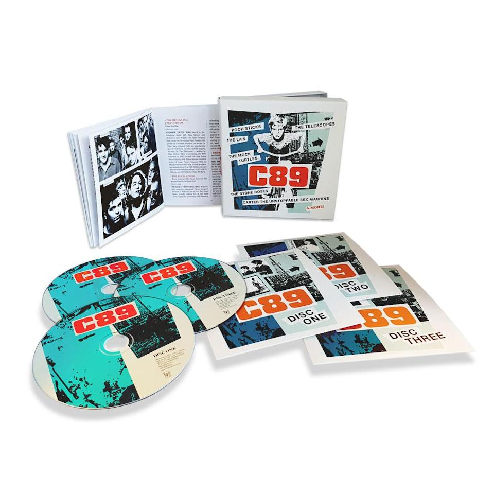 """<p>1989 was also a great year — but this isn't Taylor Swift's version/vision. Instead, this triple-disc, 72-track celebration of U.K. indie features rarities from the Stone Roses, Carter the Unstoppable Sex Machine, the La's, and the Pooh Sticks. This is Cherry Red Records' """"imagined sequel"""" to the British music magazine NME's famous, genre-kickstarting """"C86"""" cassette. A truly unique gift for the indie rocker who has everything. </p>"""