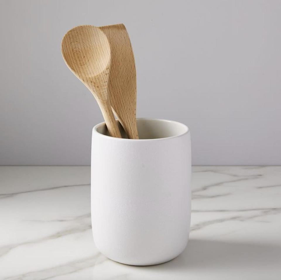 <p>This <span>Kaloh Stoneware Utensil Holder</span> ($20) will appeal to a minimalist's sensibility.</p>