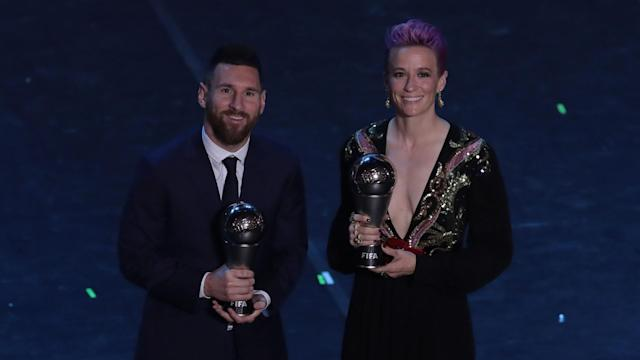Cristiano Ronaldo and Lionel Messi should be doing more to help the fight against discrimination, says Megan Rapinoe.