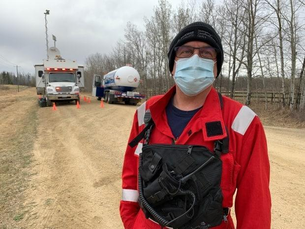 Brian Cornforth, Parkland County fire chief, expects to have the fire contained by Friday night but says crews will likely be on scene for up to two weeks to monitor smouldering areas.