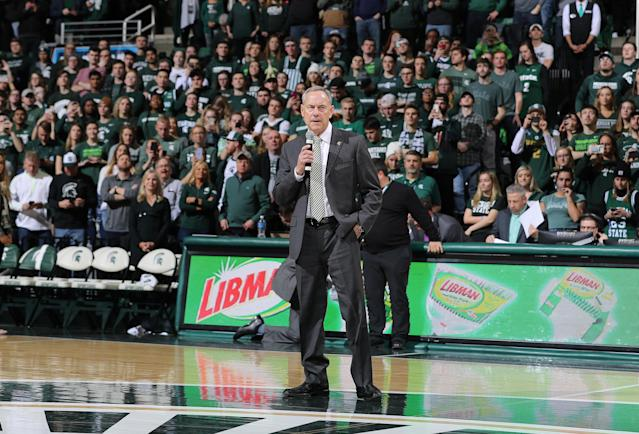 Former Michigan State coach Mark Dantonio retired on Feb. 4. He was replaced by Mel Tucker. (Rey Del Rio/Getty Images)