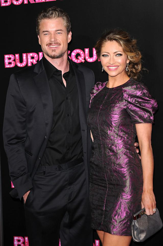 """<a href=""""http://movies.yahoo.com/movie/contributor/1802866800"""">Eric Dane</a> and <a href=""""http://movies.yahoo.com/movie/contributor/1800022678"""">Rebecca Gayheart</a> at the Los Angeles premiere of <a href=""""http://movies.yahoo.com/movie/1810125282/info"""">Burlesque</a> on November 15, 2010."""