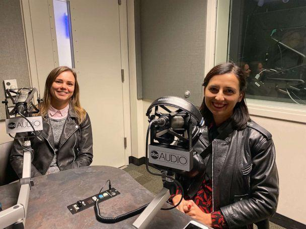 PHOTO: Anna Babinets (left) and Nastya Stanko (right) recently spoke to ABC News' 'The Investigation' podcast after receiving the International Women's Media Foundation's Courage in Journalism award. (Kaitlyn Folmer)