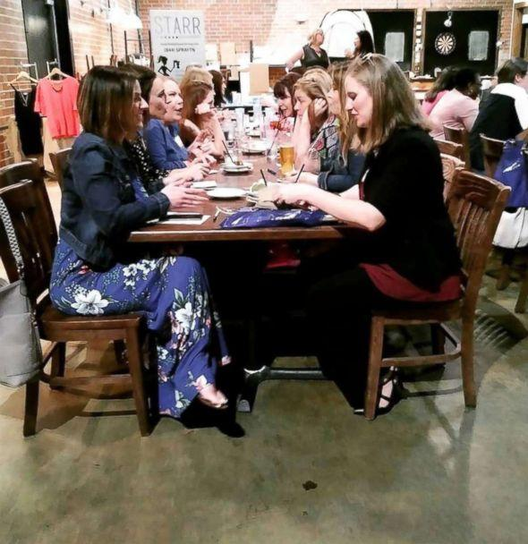 PHOTO: A group of women gather for a mom's night-out event called 'Find Your Mom-Tribe: Mommy Speed Dating' in Raleigh, N.C. (Nicki Medford )