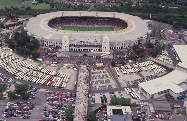 Wembley Stadium back in 1995.
