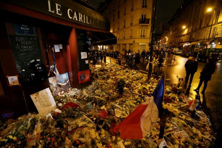 Le Pen shared the gruesome images a few weeks after Islamic State group jihadists killed 130 people in attacks in Paris in 2015