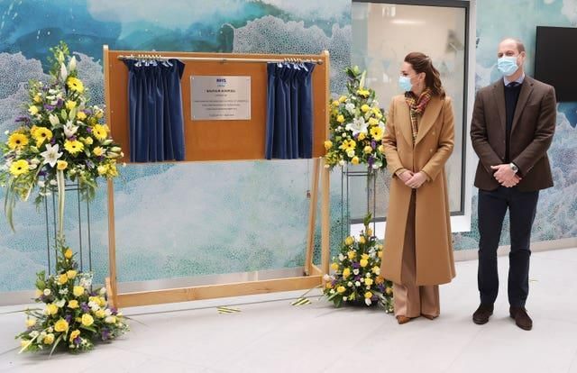 The Duke and Duchess of Cambridge during the official opening of the Balfour, Orkney's new hospital in Kirkwall