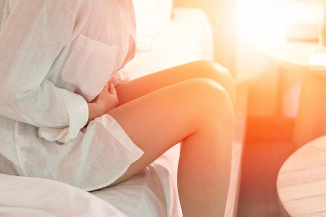 Abdominal pain is one of the tell-tale symptoms of endometriosis. (Getty Images)