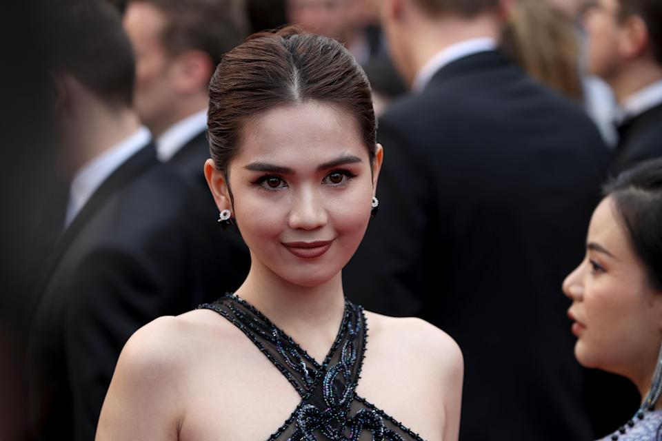 """CANNES, FRANCE - MAY 19: Ngoc Trinh attends the screening of """"A Hidden Life (Une Vie Cachée)"""" during the 72nd annual Cannes Film Festival on May 19, 2019 in Cannes, France. (Photo by Mike Marsland/WireImage)"""