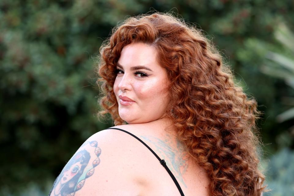 PALOS VERDES ESTATES, CALIFORNIA - JULY 21: Tess Holliday attends The DiscOasis VIP Night at South Coast Botanic Garden on July 21, 2021 in Palos Verdes Estates, California. (Photo by Amy Sussman/Getty Images)