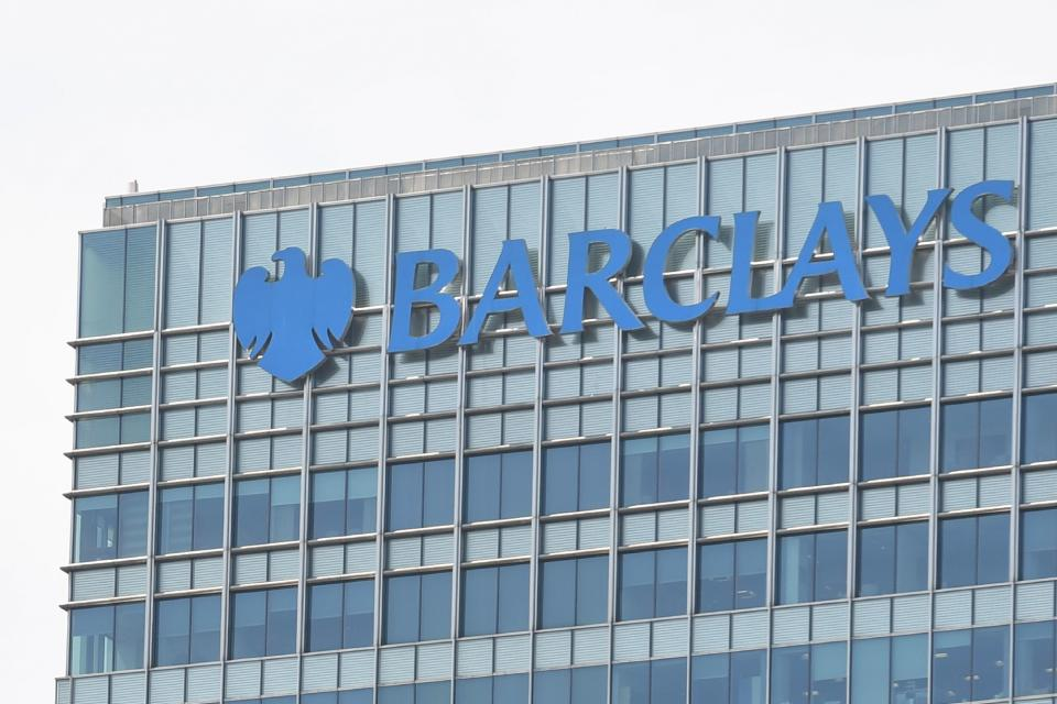 "The headquarters of the British bank Barclays is seen at the Canary Wharf district of east London on June 20, 2017.  Britain's Serious Fraud Office said on June 20 it had charged Barclays, a former chief executive of the banking giant and three other ex-managers, with ""conspiracy to commit fraud"" linked to emergency fundraising from Qatar during the financial crisis. / AFP PHOTO / Paul ELLIS        (Photo credit should read PAUL ELLIS/AFP via Getty Images)"