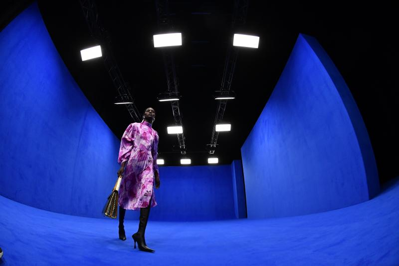 """During the Balenciaga Ready-to-Wear Spring/Summer 2020 fashion show, the artist Sissel Tolaas scented the runway with notes of """"antiseptic, blood, money, and petrol."""" Photo courtesy of Getty Images."""