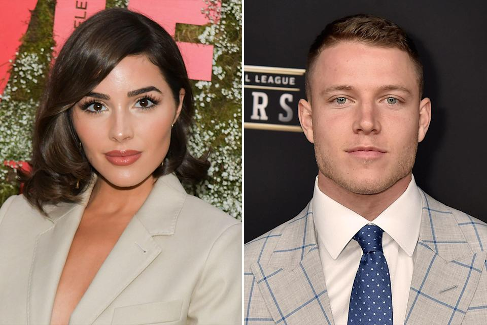 "The model and running back for the Carolina Panthers have hit the <a href=""https://people.com/style/olivia-culpo-dating-christian-mccaffrey-six-months-going-great/"" rel=""nofollow noopener"" target=""_blank"" data-ylk=""slk:six-month dating mark"" class=""link rapid-noclick-resp"">six-month dating mark</a> and they're still going strong. ""We have so much in common,"" Culpo told PEOPLE ahead of the <a href=""https://people.com/human-interest/miss-south-africa-zozibini-tunzi-crowned-miss-universe-2019/"" rel=""nofollow noopener"" target=""_blank"" data-ylk=""slk:2019 Miss Universe competition"" class=""link rapid-noclick-resp"">2019 Miss Universe competition</a>, where she — a former Miss Universe herself — joined <a href=""https://people.com/tag/vanessa-lachey/"" rel=""nofollow noopener"" target=""_blank"" data-ylk=""slk:Vanessa Lachey"" class=""link rapid-noclick-resp"">Vanessa Lachey</a> as backstage correspondents along with host Steve Harvey. ""It's really easy for us, so I'm grateful,"" Culpo added, of her bond with McCaffrey. The two were first linked in early 2019, according to reports: Sports writer Dov Kleiman said <a href=""https://twitter.com/NFL_DovKleiman/status/1123663058671419392"" rel=""nofollow noopener"" target=""_blank"" data-ylk=""slk:they followed each other"" class=""link rapid-noclick-resp"">they followed each other</a> on Instagram in April and the two were soon liking one another's photos, <a href=""https://nypost.com/2019/05/02/christian-mccaffrey-sets-sights-on-olivia-culpo-after-her-messy-nfl-breakup/"" rel=""nofollow noopener"" target=""_blank"" data-ylk=""slk:according to Page Six"" class=""link rapid-noclick-resp"">according to Page Six</a>."