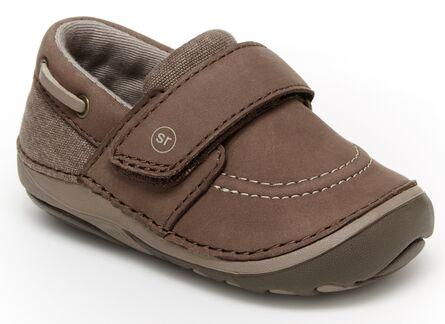 stride rite soft motion wally loafer brown Velcro shoe