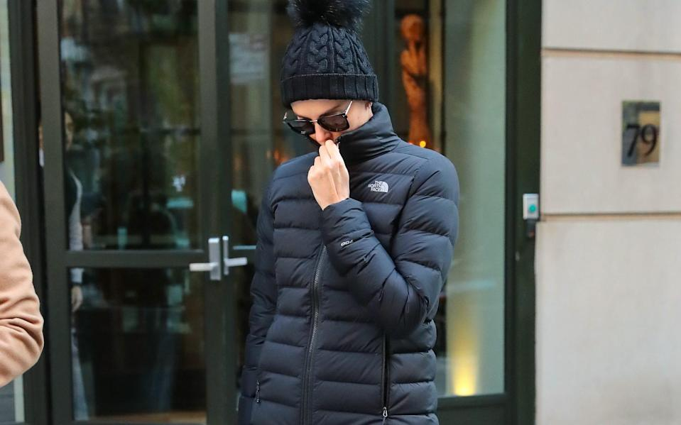 Charlize Theron wearing The North Face