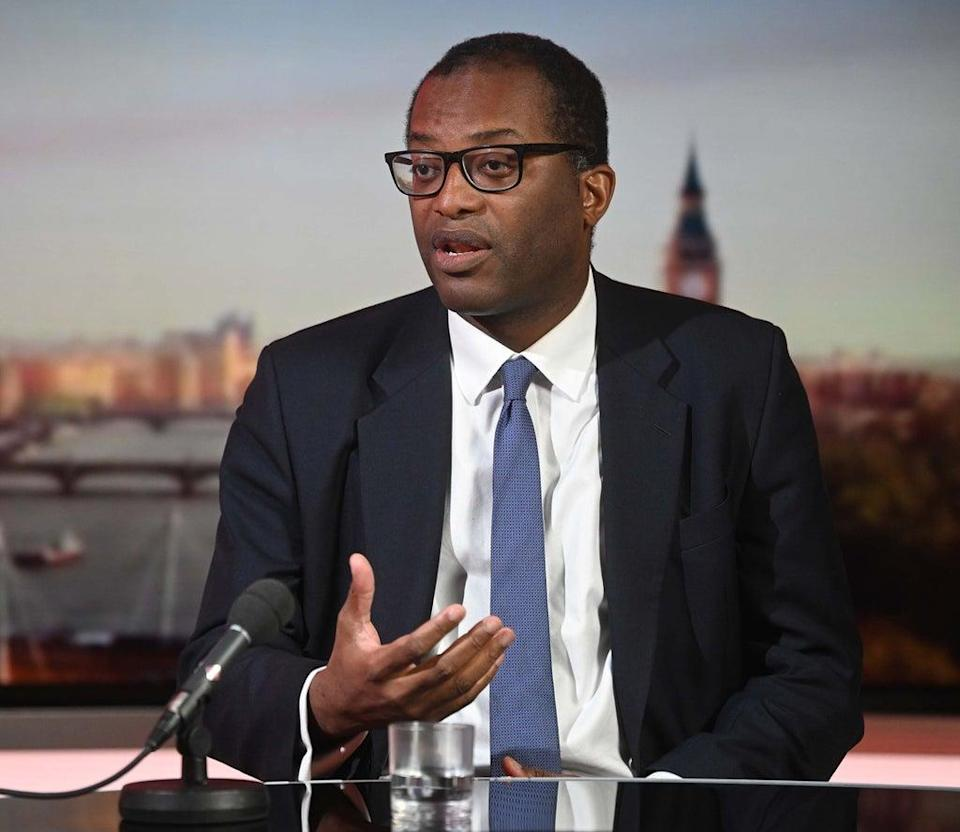 Business Secretary Kwasi Kwarteng appearing on BBC One's The Andrew Marr Show (PA) (PA Media)