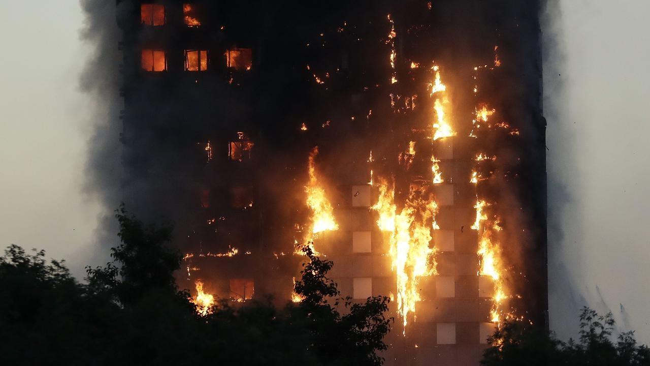 <p>A massive, deadly fire burns at the Grenfell Tower apartment block in London, England on June 14, 2017. The fire claimed 72 lives and left hundreds of people homeless. (Photo from Australian Associated Press) </p>