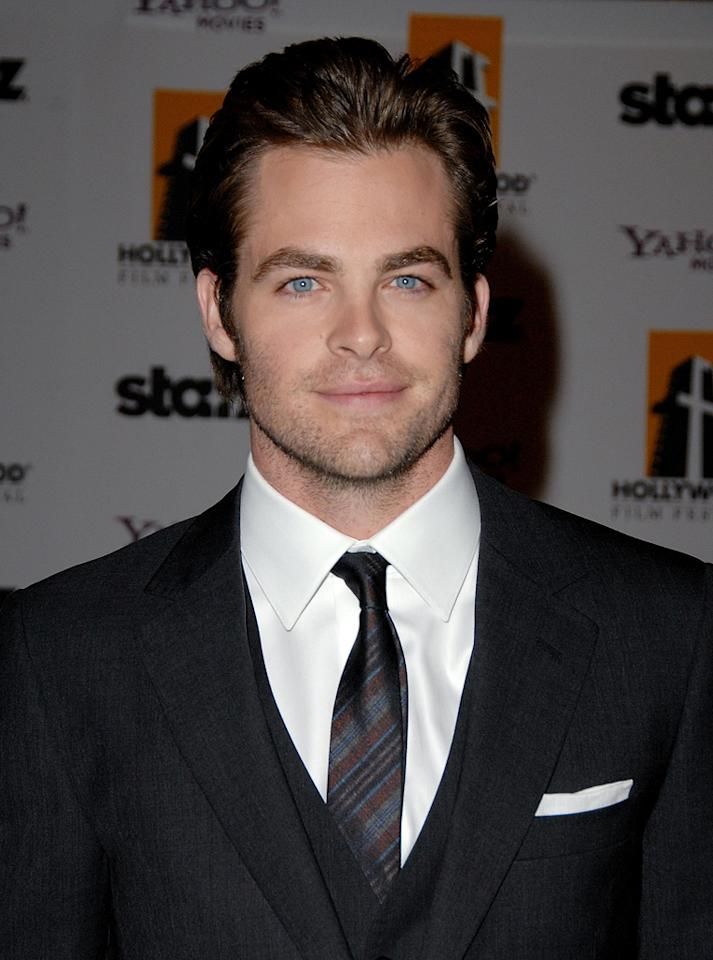 "<a href=""http://movies.yahoo.com/movie/contributor/1808520306"">Chris Pine</a> at the 12th Annual Hollywood Film Festival Awards Gala in Beverly Hills - 10/27/2008"