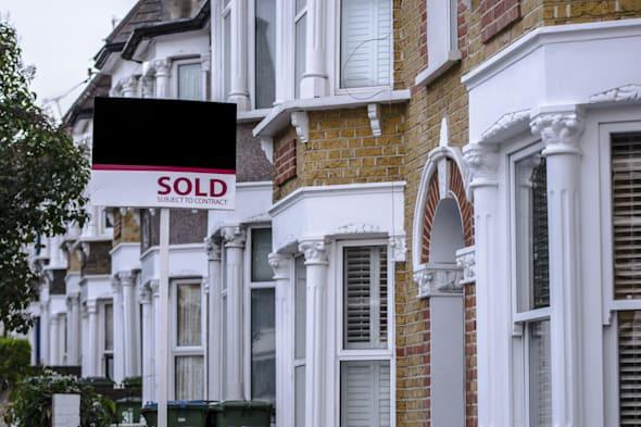 London houses with sold sign