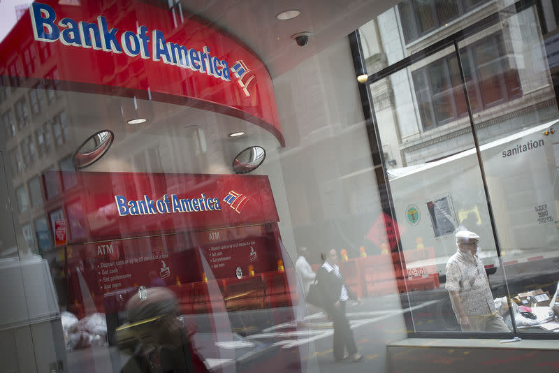 FILE PHOTO: A Bank Of America ATM is pictured in the Manhattan borough of New York