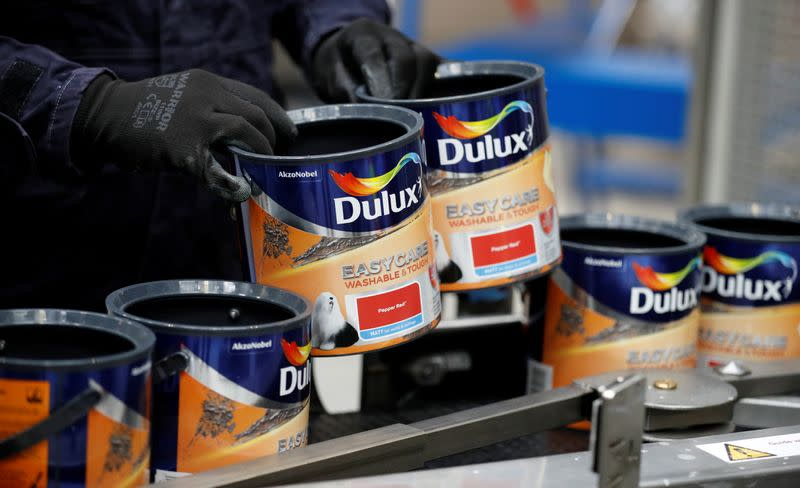 Akzo Nobel reports worse than expected fourth-quarter earnings, demand weak