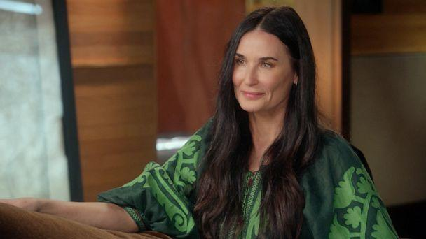 PHOTO: Actress Demi Moore talks to ABC News' Diane Sawyer about marriage, her career and more. (ABC News)