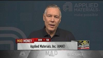 Jim Cramer caught up with Applied Materials President and CEO Gary Dickerson about his company's role in artificial intelligence and big data.