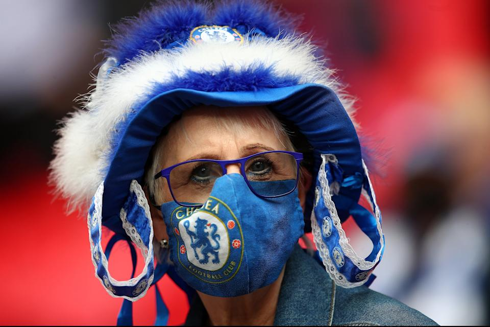 <p>Back at the Bridge: Chelsea fans will cheer on the team against Leicester on Tuesday evening</p> (Chelsea FC via Getty Images)
