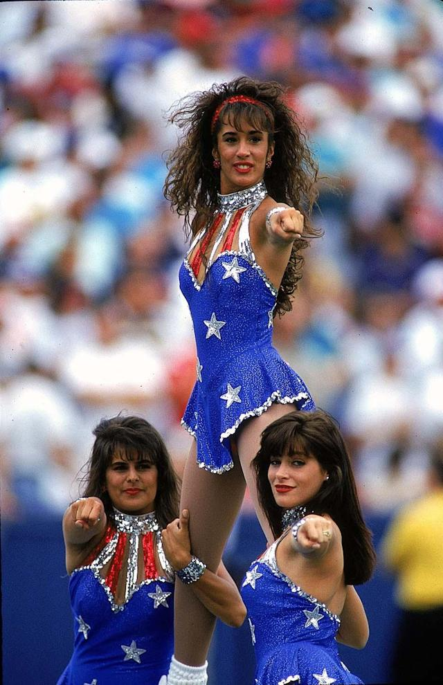12 Sep 1993: New England Patriots Cheerleaders perform during the game against the Detroit Lions. The Lions defeated the Patriots 19-16 in overtime. Mandatory Credit: Rick Stewart /Allsport