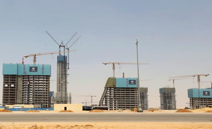 A view of Chinese-owned buildings under construction in the New Administrative Capital (NAC), east of Cairo
