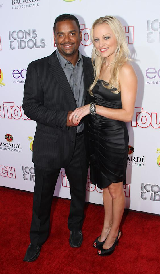 LOS ANGELES, CA - SEPTEMBER 06: Alfonso Ribeiro and fiance attend the  InTouch Weekly Presents ICONS & IDOLS at Chateau Marmont on September 6, 2012 in Los Angeles, California.  (Photo by Sean tSabhasaigh/WireImage)