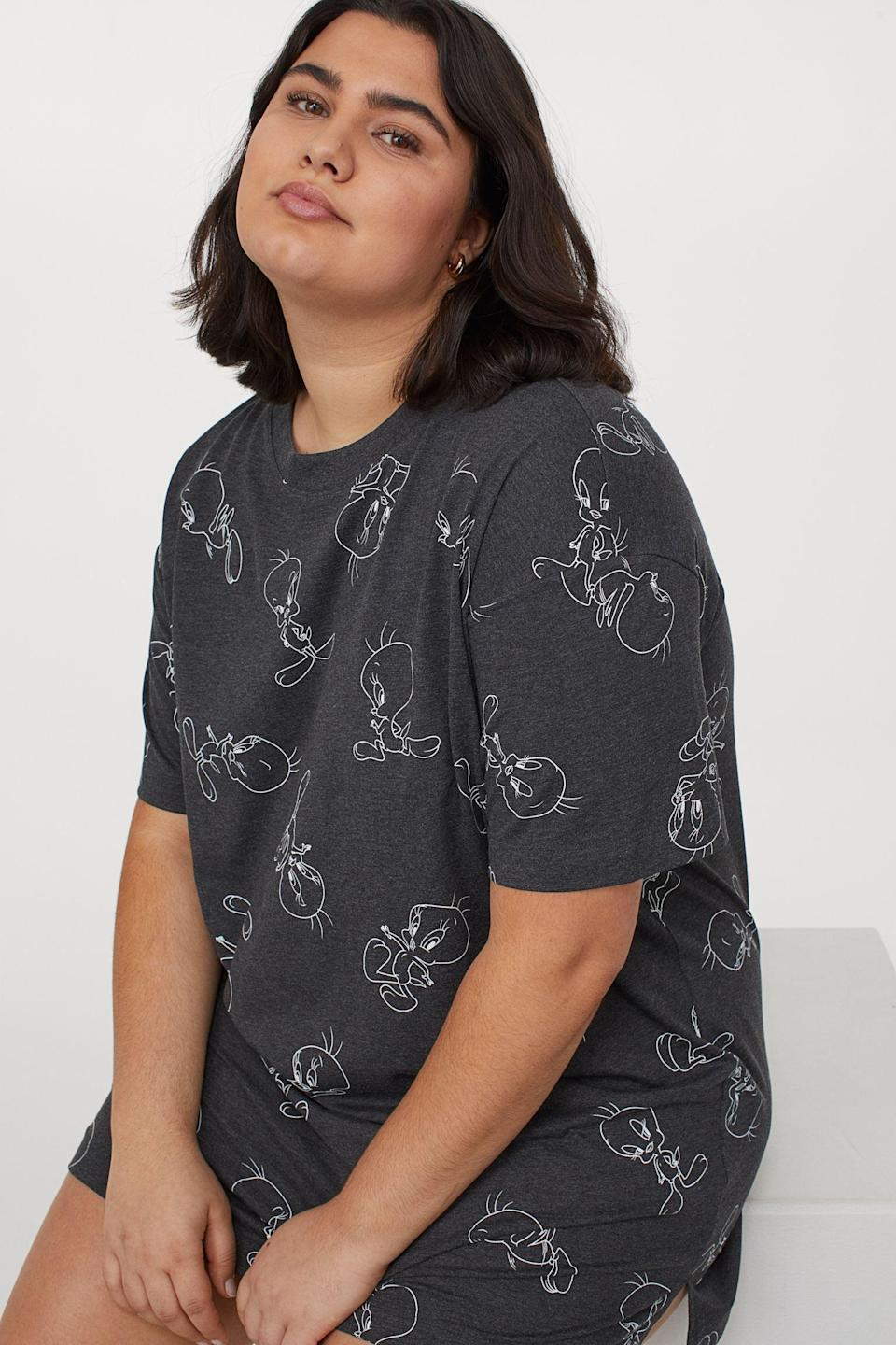 <p>This <span>H&amp;M+ Printed Nightgown</span> ($18) looks comfortable and playful.</p>