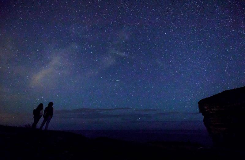 A meteor shower will be visible this weekend: CESAR MANSO/AFP/Getty Images