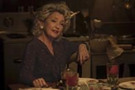 """In this image released by Focus Features, Lesley Manville appears in a scene from """"Let Him Go."""" (Kimberley French/Focus Features via AP)"""