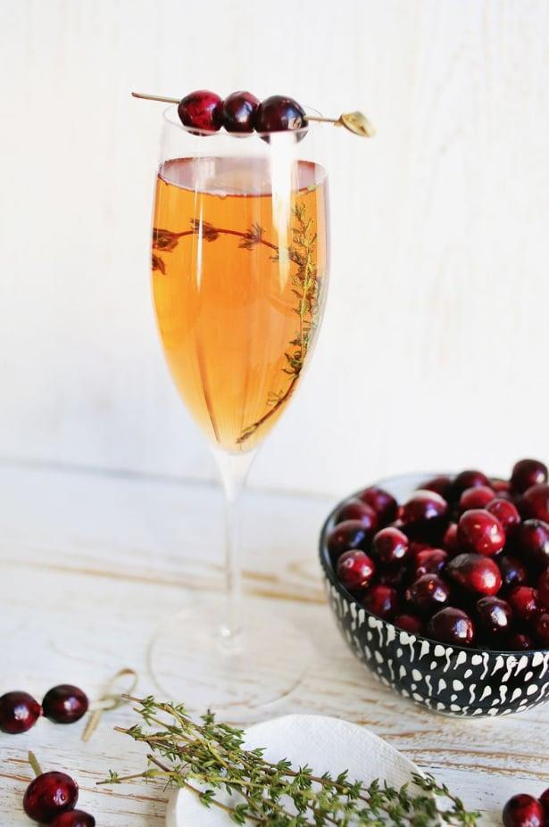 """<p>Spice up the traditional mimosa recipe by adding cranberries to the mix. Not only will this make your drink look more sophisticated, but it'll also give it a tangy zest.</p> <p><strong>Get the recipe</strong>: <a href=""""https://abeautifulmess.com/2014/11/prosecco-and-cranberry-mimosas.html"""" class=""""link rapid-noclick-resp"""" rel=""""nofollow noopener"""" target=""""_blank"""" data-ylk=""""slk:Prosecco cranberry mimosa"""">Prosecco cranberry mimosa</a> </p>"""