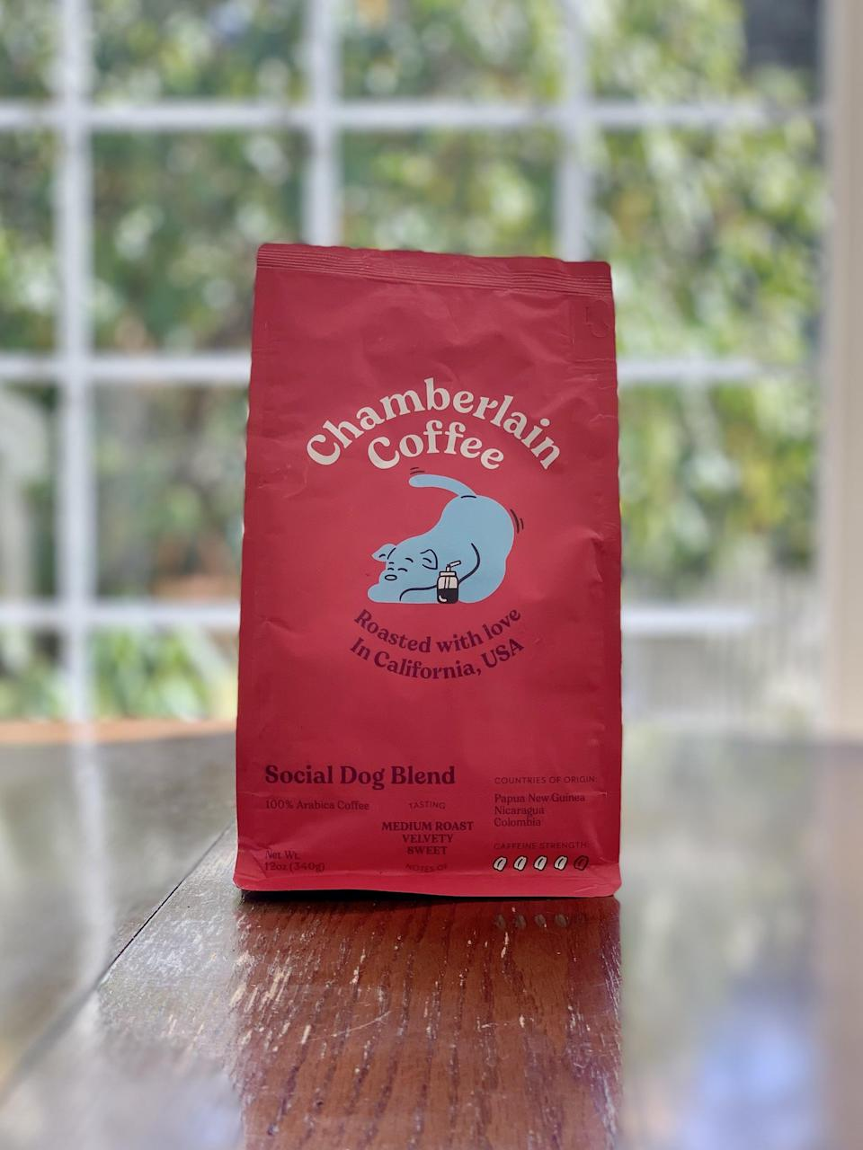 "<p><strong>Basic info:</strong> Medium roast described as ""velvety"" and ""sweet.""</p> <p>French roast is your favorite coffee? The <a href=""https://chamberlaincoffee.com/products/social-dog-blend"" class=""link rapid-noclick-resp"" rel=""nofollow noopener"" target=""_blank"" data-ylk=""slk:Social Dog Blend"">Social Dog Blend</a> is the closest match, as far as I can tell. We drink french roast every day, and this was very similar to my morning cup. I was surprised to find out that this blend has ""a graham cracker finish"" - is that why I loved it so much?!</p>"