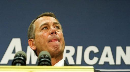 """<p>Speaker of the House John Boehner speaks to the press December 18, 2012 to offer a """"Plan B"""" to solve the looming fiscal crisis. President Barack Obama has vowed to veto the plan.</p>"""