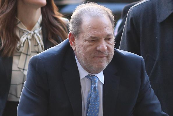 Harvey Weinstein arrives at Manhattan Criminal Court with his lawyers in February.