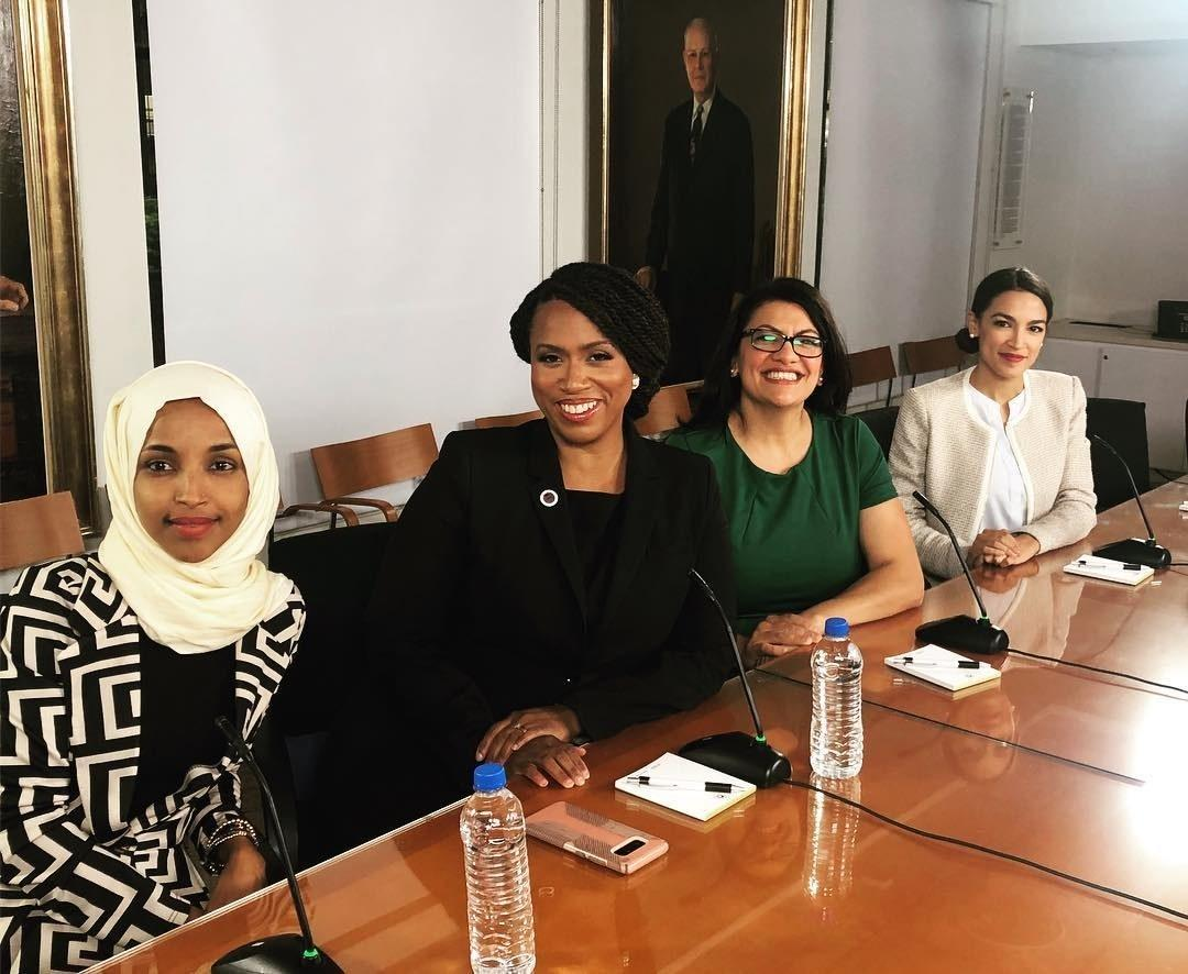 Newly elected Reps. Ilhan Omar, left, Ayanna Pressley, Rashida Tlaib and Alexandria Ocasio-Cortez are already changing the face of Washington, D.C., politics.