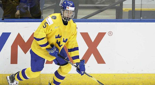 Defenseman Philip Broberg is an elite skater and very well could be available for the Flyers at No. 11 overall in the 2019 NHL draft. By Jordan Hall