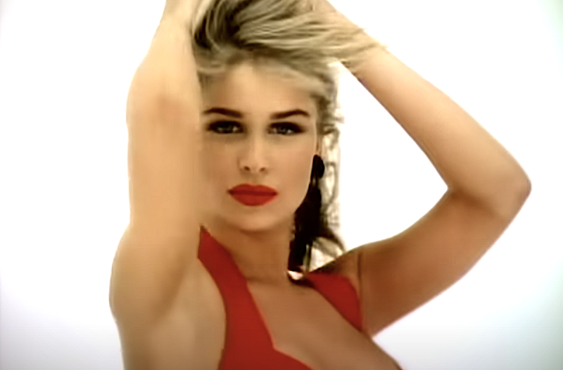 "Bobbie Brown in Warrant's ""Cherry Pie"" video. (Photo: Sony Music Label Group)"