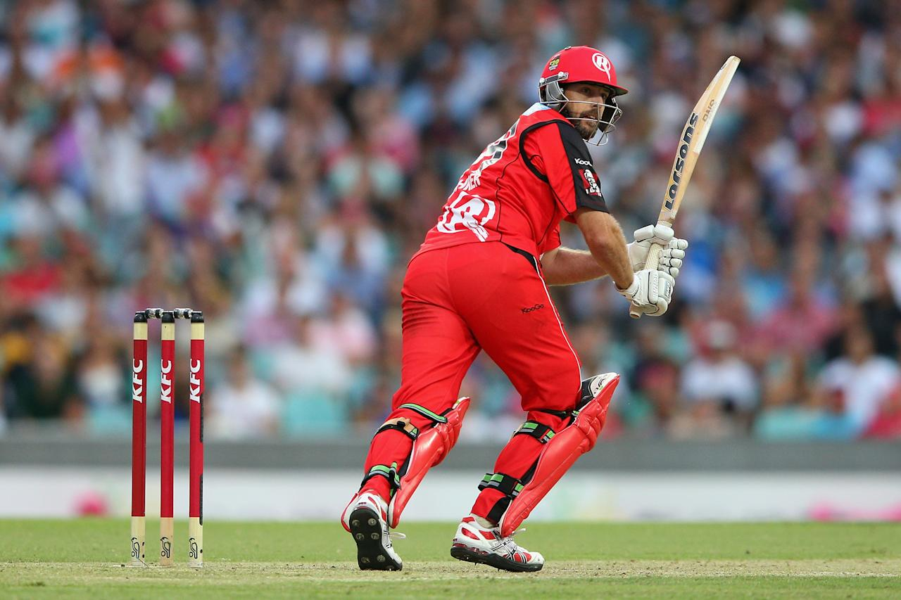 SYDNEY, AUSTRALIA - JANUARY 09:  Ben Rohrer of the Renegades bats during the Big Bash League match between the Sydney Sixers and the Melbourne Renegades at SCG on January 9, 2013 in Sydney, Australia.  (Photo by Cameron Spencer/Getty Images)